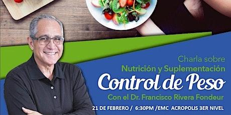 CHARLA Y EVALUACIONES DE CONTROL DE PESO entradas