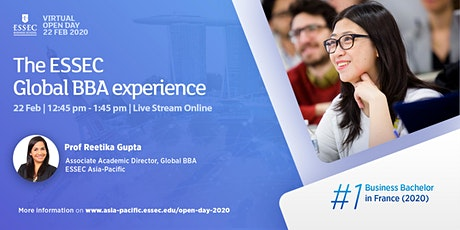 The ESSEC Global BBA Experience - Info Session & Alumni Sharing tickets