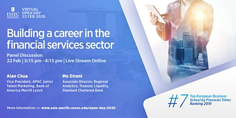 """Building a career in the financial services sector"" - Panel Discussion by ESSEC Asia-Pacific tickets"
