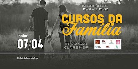 CURSOS DA FAMÍLIA | 2020 - 01 ingressos