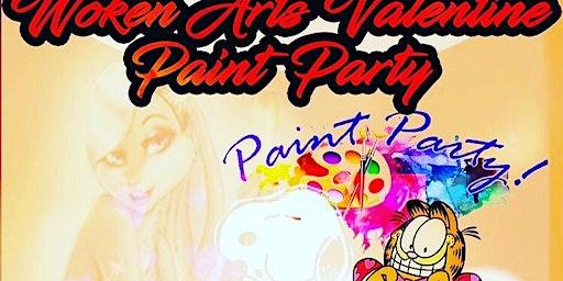 Woken Arts Paint Party~Sip Puff n paint