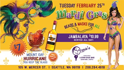 MARDI GRAS AT OZZIE'S!! tickets