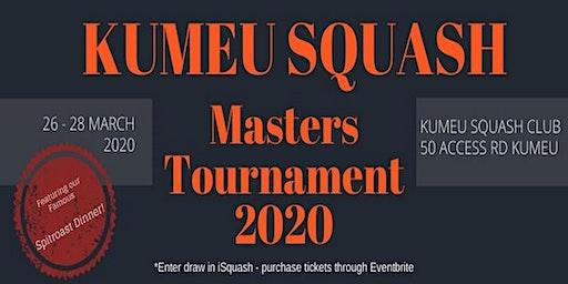 Kumeu Squash Club Don Wilkins Memorial A2 & Below Masters Tournament | Thur to Sat, 26-28 March 2020
