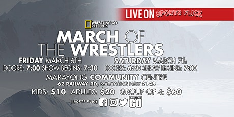 Wrestling GO: March Of The Wrestlers tickets