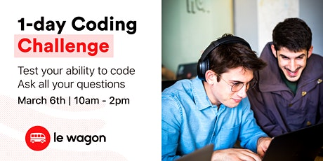 All aboard Le Wagon: 1-Day Coding Challenge! tickets