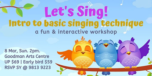 Let's Sing! Intro to basic singing technique