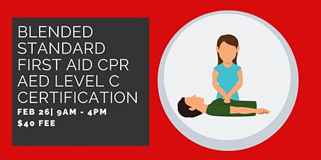 Pre-Registration: Blended Standard First Aid CPR/AED Level C Certification tickets