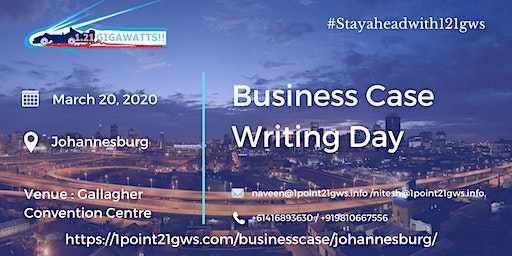 Business Case Writing Day | March 20, 2020 | Johannesburg