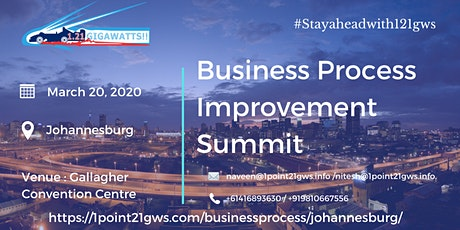 Business Process Improvement Summit   20 March, 2020   Johannesburg tickets