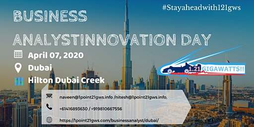 Business Analysis Innovation Day | April 07, 2020 |Dubai