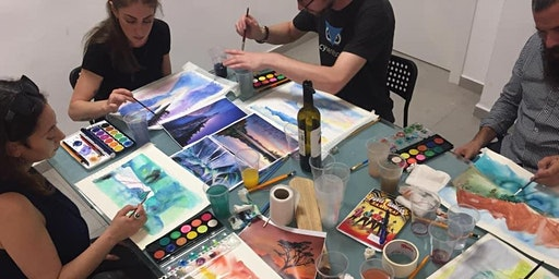 Water Colors Painting Workshop With Chana Rachel