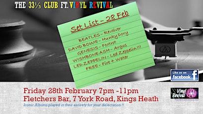 The 33⅓ Club - Classic Albums at Fletcher's ft. Vinyl Revival tickets