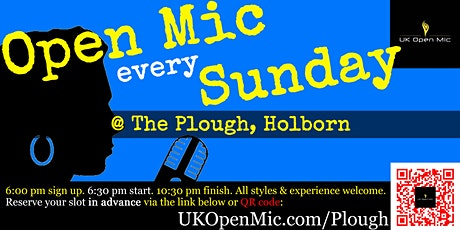 UK Open Mic @ The Plough in Holborn / Bloomsbury / Russell Square tickets