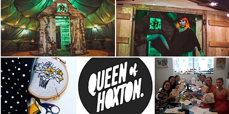 M.Y.O x Queen of Hoxton - Embroidery wall hanging - Wizard of Oz themed tickets
