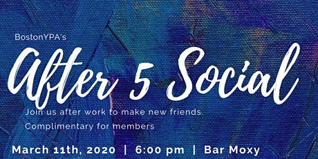 After 5 Social @ Bar Moxy! tickets