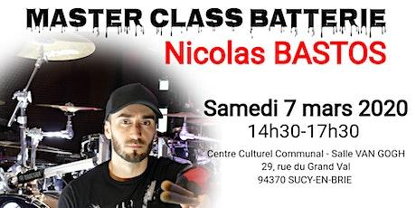 Atelier BATTERIE (MASTER CLASS) à Sucy en Brie (94) - Nicolas BASTOS (Places limitées!) tickets
