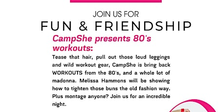 CampShe - 80's style Workouts tickets