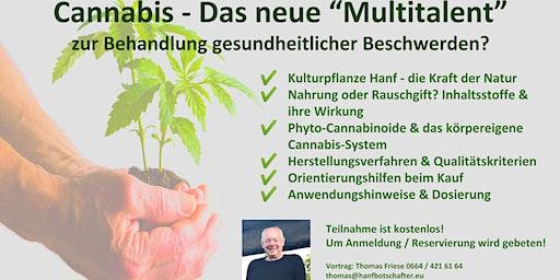 """Vortrag: """"Cannabis - das Multitalent gegen gesundheitliche Beschwerden?"""""""