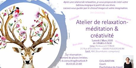 Atelier de relaxation et créativité : Le Vision Board (tableau magique) billets