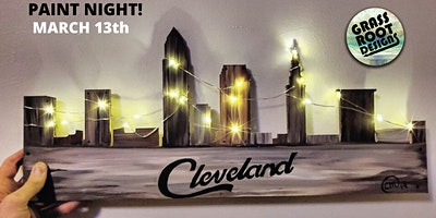 Rustic Light Up Cleveland | Paint Night!