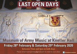 Museum of Army Music Kneller Hall Last Open Days tickets