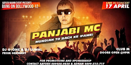 bANG oN bOLLYWOOD-12 Panjabi MC Live In Concert tickets