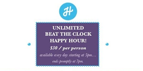 Unlimited Beat the Clock Happy Hour at HalfSmoke tickets