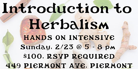 introduction to medicinal herbalism | hands - on  intensive tickets