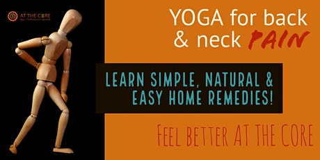 Yoga for Neck & Back Pain tickets