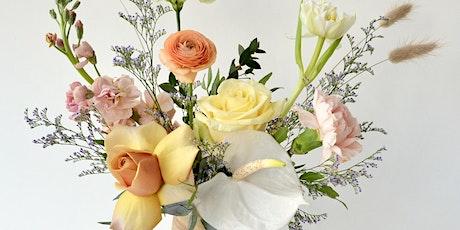 Floral Design: Garden Style Arrangement in Handmade Ceramic Vase tickets