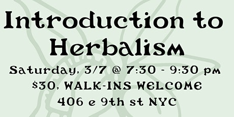 Introduction to Medicinal Herbalism tickets