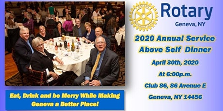 Geneva Rotary Club Presents: 2020 Service Above Self Dinner tickets