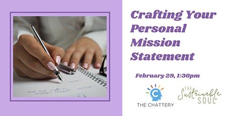 Crafting Your Personal Mission Statement tickets