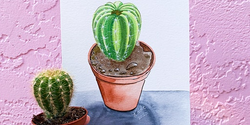 Spring Kick Off - Watercolor Cactus Workshop