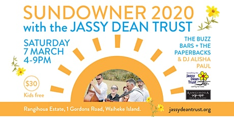 Sundowner  2020 with the Jassy Dean Trust tickets
