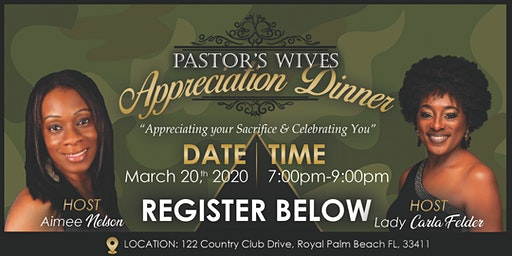 Pastor's Wives Appreciation Dinner