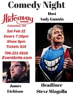 COMEDY NIGHT AT HIDEAWAY LOUNGE BY ANDY GUNNIN