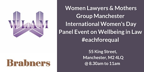 WLAM International Womens Day Panel Discussion on Wellbeing in Law tickets