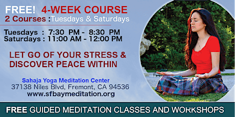 Free 4-Week Meditation Course with live music in Fremont, CA  tickets