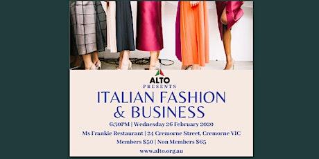 ALTO Presents: Italian Fashion and Business tickets