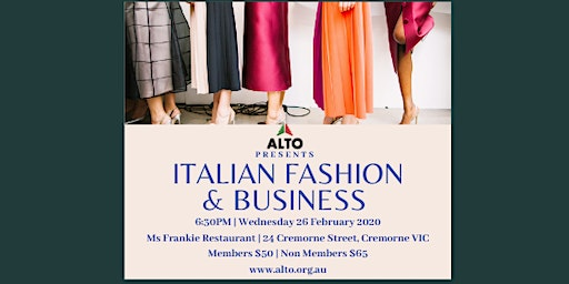 ALTO Presents: Italian Fashion and Business