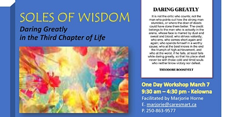 Soles of Wisdom - Daring Greatly in the Third Chapter of Life tickets