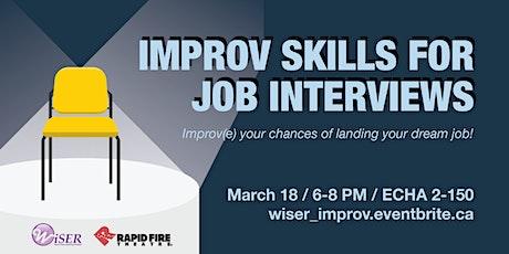 Improv Skills for Job Interviews tickets