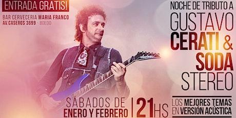 Show acústico tributo Cerati y Soda Stereo - Entrada Gratis entradas