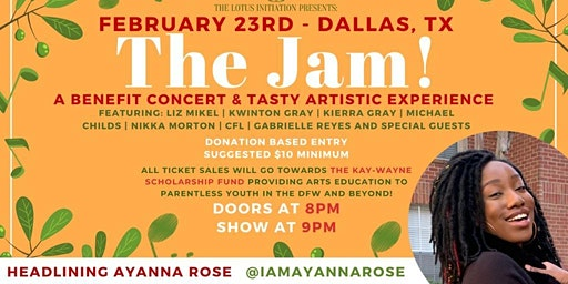 The Jam! - A Benefit Concert & Tasty Artistic Experience