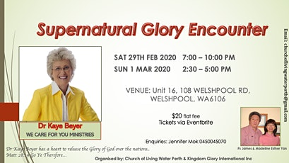 SUPERNATURAL GLORY ENCOUNTER tickets