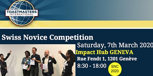 TOASTMASTERS SWISS NOVICE COMPETITION 2020