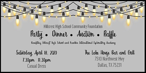 2020 Hillcrest HS Community Foundation: Eat, Drink & Have Fun!