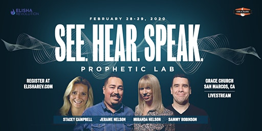 See. Hear. Speak. (Prophetic Lab)