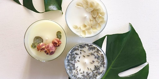 FlowerSchool LA presents the Art of Candle Making: Flower Infused Candles